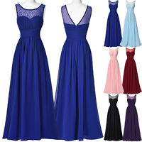 Formal Evening Party Chiffon Dress Pageant Long Cocktail Bridesmaid Ball Gown ..