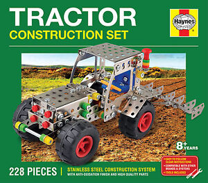 TRACTOR CONSTRUCTION SET - 228 PIECES HAYNES STAINLESS STEEL SYSTEM Meccano Like