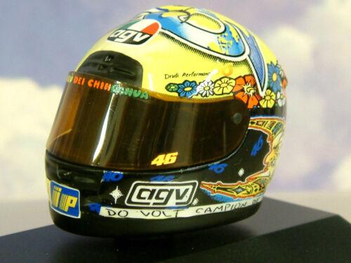 Superbe Minichamps 1//8 AGV Course Casque Valentino Rossi #46 Gp 250 1999