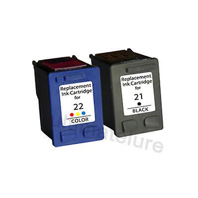 2Pk HP 21 22 reman Ink Cartridges C9351AN & C9352AN Hp21 Hp22
