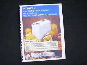 Hitachi Hb D102 Hb D103 Bread Maker Machine Instructions