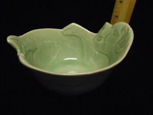 Rare Baan Celadon pig cereal soup bowl 6\