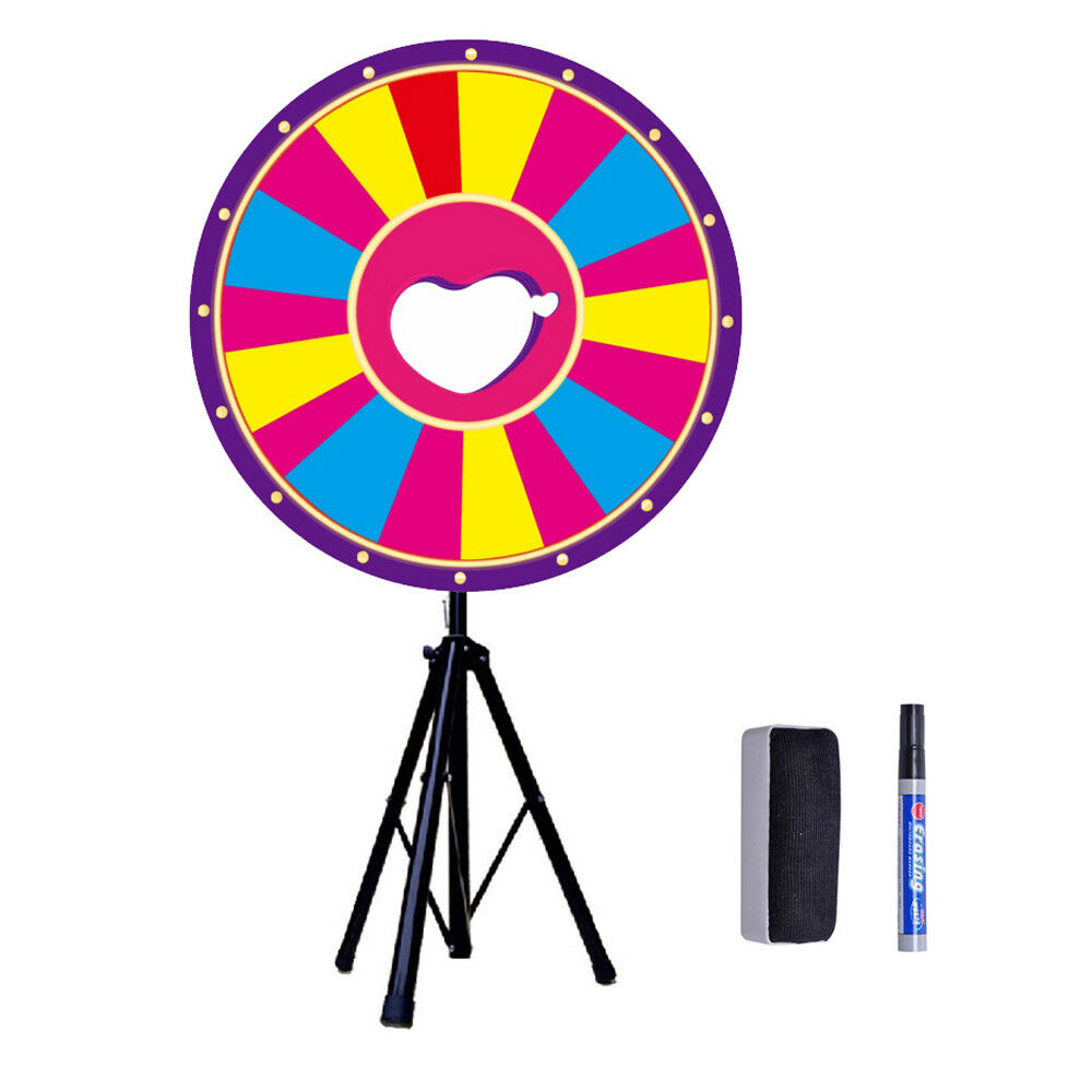 24 inch Tabletop Farbe Prize Wheel Spinnig Game Trade Show Carnival Fortune