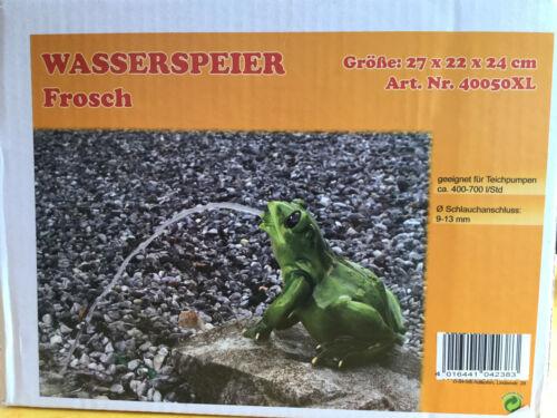 Garten Teich Pool Deko Figur wetterfest Unke Kröte XL Frosch Wasserspeier groß