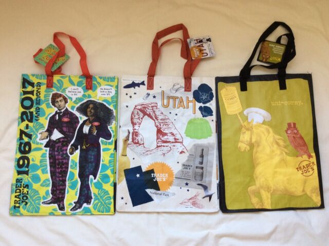 NEW 2 Utah Trader Joe's Tote Reusable Bag Grocery Shopping Bag ~