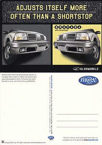 OLDSMOBILE-BRAVADA-ADVERTISING-UNUSED-COLOUR-POSTCARD