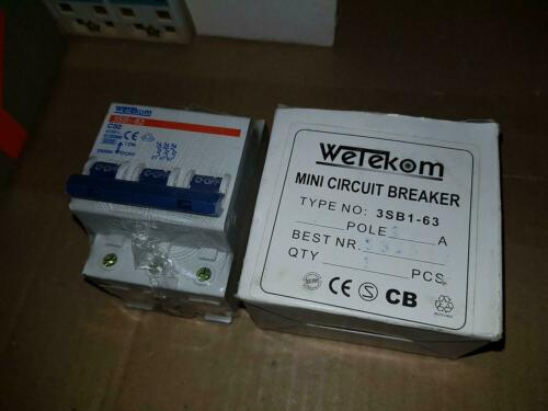 Wetekom 3sb1-63 Circuit Breaker Fuse 3 P Pole c32a C 32 A NEW OVP