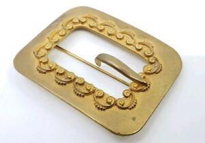 Antique-victorian-Sash-Buckle-Brooch-Pin