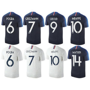 2018 France World Cup 2 Star Soccer Jerseys For Mbappe DEMBELE POGBA ... 4f0297574
