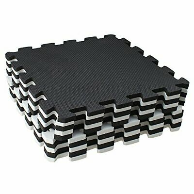 Puzzle Mat 10 Pieces Workout Gym Fitness Exercise Interlocking Rubber Floor Tile