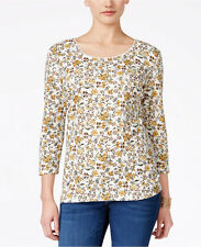 NWT 2XL 3/4 Sleeve Plus size Womens Floral Top Shirt Karen Scott With tag Garnet