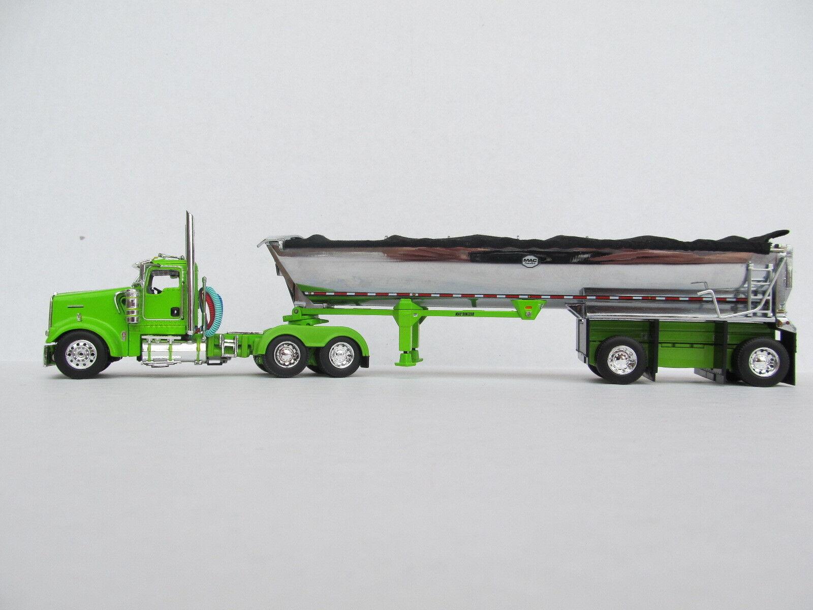 contador genuino Dcp Escala 1 64 W-900 Kenworth cabina cabina cabina de día Lime verde con Mac Ronda propagación Eje  saludable