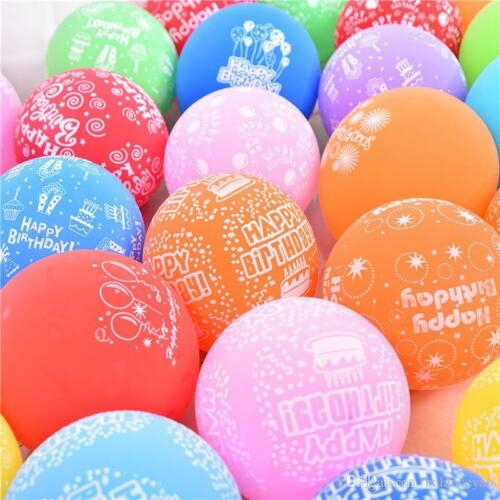 30-100 Latex large ballons air /& Helium happy birthday helium Balloons baloons
