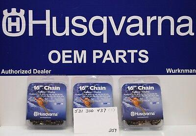 "16/"" Chainsaw Chains .325/"" x .050/"" x 66dl Low Vibration 5313004-37 3"