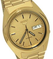 Seiko SNXL72 Automatic Gold Day Date Dial Stainless Steel Bracelet Men Watch New