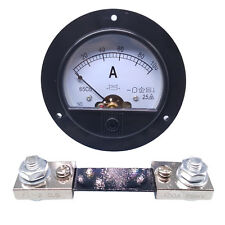 Us Stock Dc 0100a Analog Amp Current Pointer Needle Panel Meter Ammeter Amp Shunt