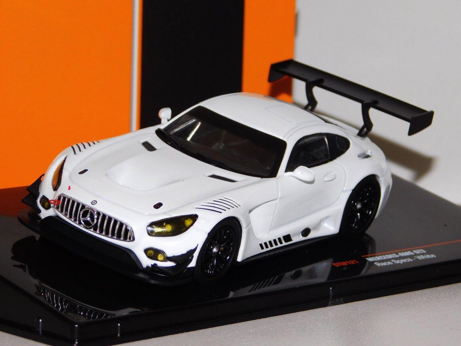 MERCEDES AMG GT3 RACE SPEC SPEC SPEC PLAIN BODY WHITE IXO GTM121 1 43 50b7ab