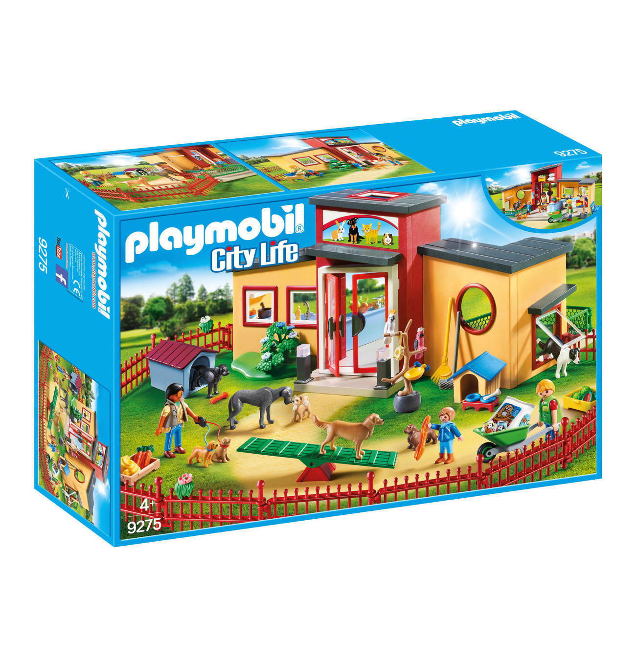 PLAYMOBIL 9275 ANIMAL HOTEL ZOO WITH A LOT ANIMALS  BRAND   NEW / SEALED