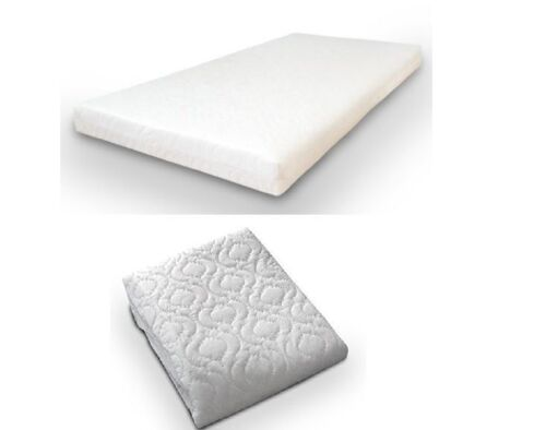 QUILTED/&WATERPROOF BREATHABLE BABY  COT BED//TODDLER MATTRESS 120 x 60 x 13 cm