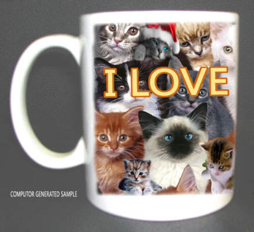 I LOVE CATS COFFEE MUG LIMITED EDITION XMAS GIFT NEW