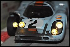 CODEX CRASHED + NIGHT VERSION PORSCHE 917K GULF #2 DAYTONA '71  NOREV 1:18