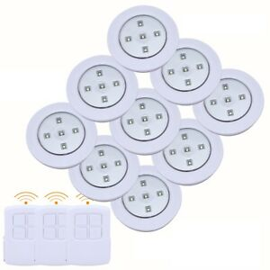 9pc Led Smd Lumiere Telecommande Sans Fil Batterie Sous Meuble