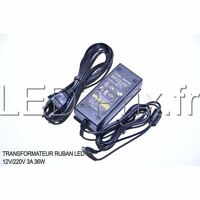 Transformateur Ruban Led 12v/220v 3a 36w