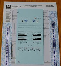 Microscale Decal N #60-1478 Department of Defense (DODX) for: Freight Cars