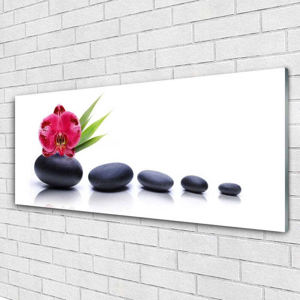 Immagini muro immagini in Vetro Stampa su vetro 125x50 FIORE PIETRE ARTE