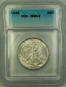 1945-Silver-Walking-Liberty-Half-Dollar-50c-ICG-MS-63