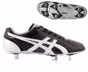 probable Ropa cráter  New Asics Lethal Jet ST Rugby Boots Black/Wht/Silver UK Senior sz 8 & 11 |  eBay
