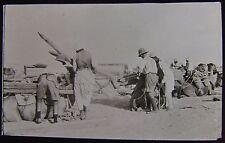 Glass Magic Lantern Slide LOADING CAMELS SHUSHA DATED 1916 WW1 PHOTO