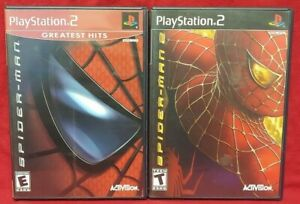 Marvel Spider-Man 1 + 2  PS2 Playstation 2 Game Lot 1 Owner Complete Working !