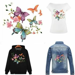 Clothes-Washable-Heat-Transfer-Stickers-Iron-On-Appliques-Print-Flowers-Patches