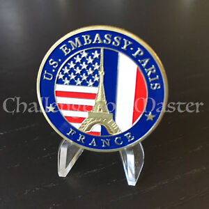 Details about C21 United States Embassy Paris France US Department Of State  Challenge Coin