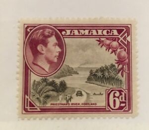 Jamaica-Scott-123a-KGVI-Six-Pence-Mint