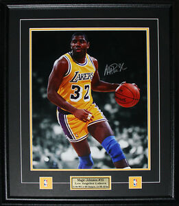 71586c3b1 Image is loading Magic-Johnson-Los-Angeles-Lakers-Signed-16x20-NBA-