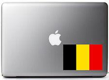 "Kingdom of Belgium Country Pride Flag Full Color - Vinyl Decal for 13"" Macbook"