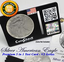 1986 - 2017 Silver Coin Test Eagle Bullion Wallet Size Verification Kit