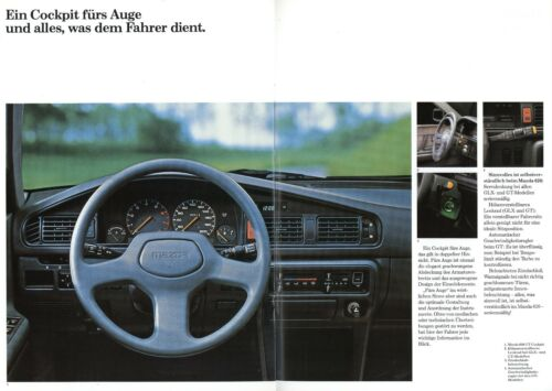 0004MA Mazda 626 Prospekt 1987 9//87 deutsche Ausgabe brochure broszura catalog