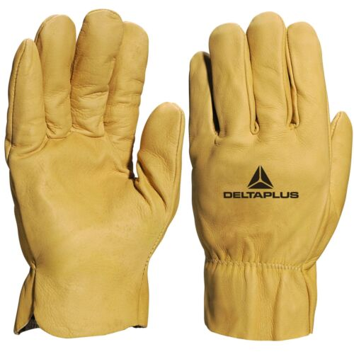 Delta Plus Venitex FBH60 Yellow Water Repellent Cowhide Top Quality Work Gloves
