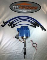 Amc Jeep 4.2l 258 232 6 Cyl Hei Distributor Blue + 8mm Plug Wires