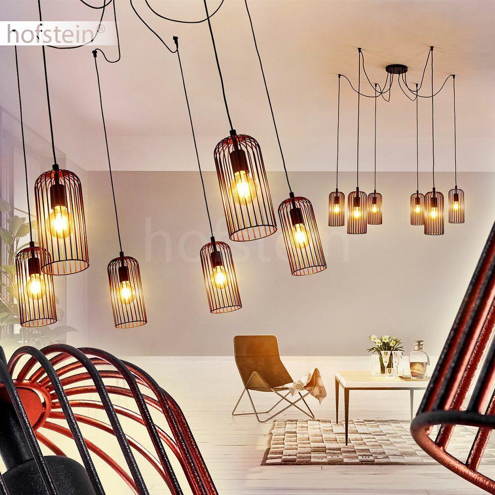 Retro Pendel Hänge Lampen Ess Wohn Schlaf Zimmer Raum Beleuchtung Schwarz-Kupfer