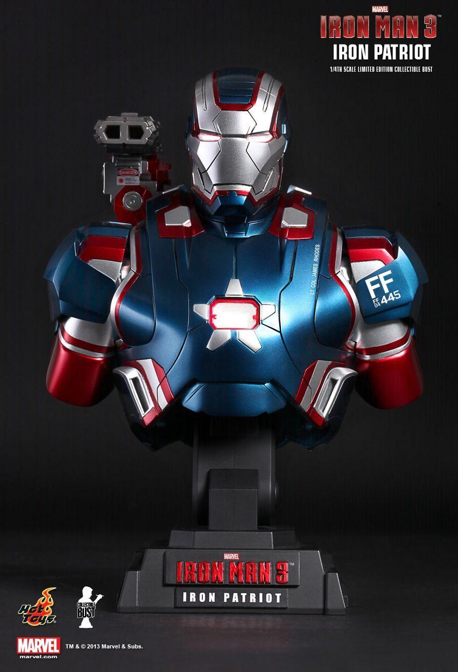 Hottoys marvel iron man 3 iron patriot 1  4 sammlerstck abbildung pleite