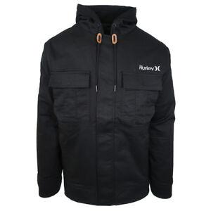 35ee83d105b9 Image is loading Hurley-Men-039-s-Black-Surge-Jacket-Retail-