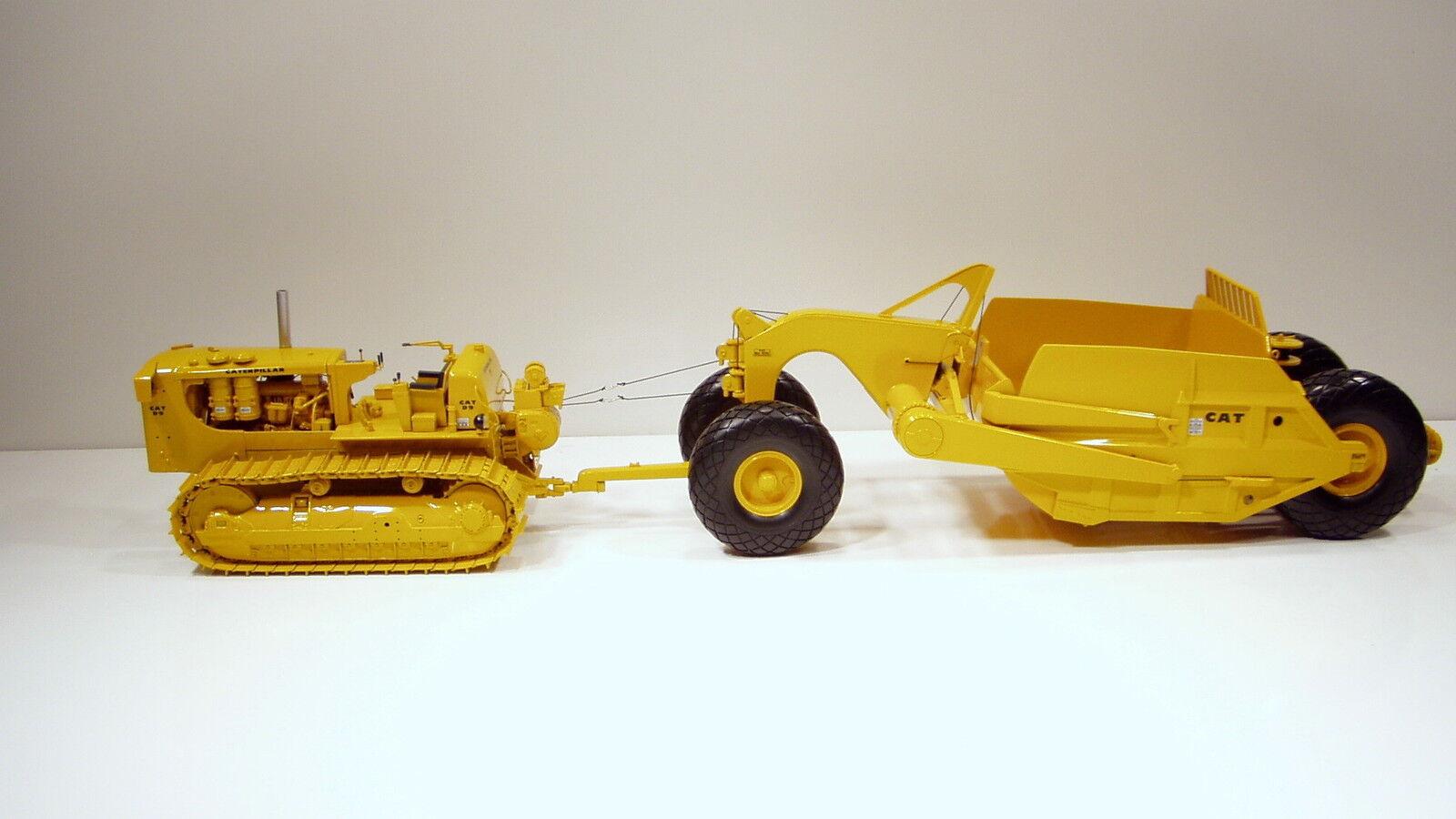 Caterpillar D9E sur chenilles & 491 Grattoir  - 1 25 - FIRST GEAR  49-0148 & 49-0175  magasin discount
