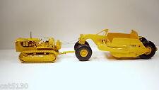 Caterpillar D9E Crawler & 491 Scraper - 1/25 - First Gear #49-0148 & 49-0175