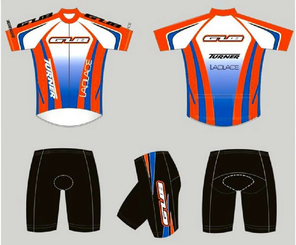 GUB Cycling Jersey and Short Set 1 2  Zipper, Lycra, Spandex orange bluee 3XL  hastened to see