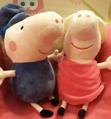"PEPPA PIG 9/"" Soft Plush Toy-Grandpa Grandma Cadeau Cadeau De Noël Enfants Jouet"