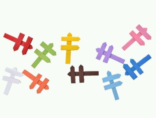 2 x Wooden Sign Post Fairy Garden//Micro//Dollhouse//Bonsai